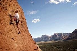 Red Rock Canyon NCA, just 30km west of Vegas, is arguably one of the best climbing destinations in the US. (Credit: Getty)