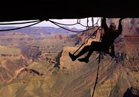 Composition shot of a climber at the Grand Canyon (Credit: Bill Hatcher)