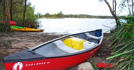 Canoeing at Great Sandy National Park, QLD (Photo: Dallas Hewett)