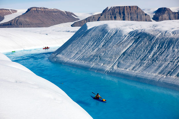 Kayaking Greenlands Melting Glaciers