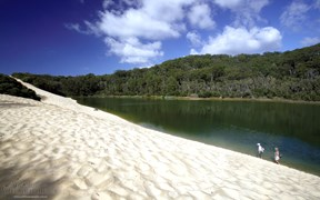 Lake Wabby, Fraser Island, Queensland
