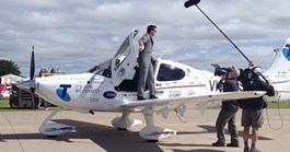 Nineteen-year-old Ryan Campbell is attempting to fly around the world solo in a single engine plane.