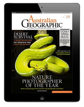 The Australian Geographic iPad app. (Credit: Australian Geographic)