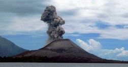 Anak Krakatoa, in Indonesia.