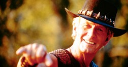 Paul Hogan plays Mick 'Crocodile' Dundee in <em>Crocodile Dundee in Los Angeles</em>. (Credit: Getty Images)
