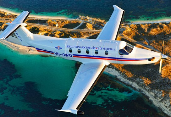 The RFDS services the holiday island of Rottnest, 15 km off the WA coast (Photo: Alexis Bachofen / Eye in the Sky Productions)
