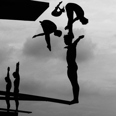 Divers practice during the 14th FINA World Aquatics Championships. (Adam Pretty, Australia, Getty Images)