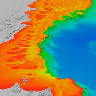 A 3-D map of the sea floor off the coast of Cape York Peninsula, Queensland. (Credit: Robin Beaman)