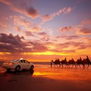 Taxi to Cable Beach, WA (Photo: Tourism WA)
