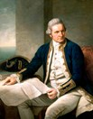 A portrait of Captain James Cook represents Australia's history. (Credit: Wikimedia)