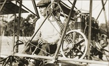 John Duigan at the controls of his 1910 biplane. (Credit: Duigan Family Archive)