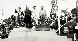 Canberra's Naming Ceremony at Capitol Hill on 12 March 1913 (Credit: National Library of Australia).
