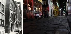 Hosier Lane past and present, by first-place under-18 winner, Billy Gibney