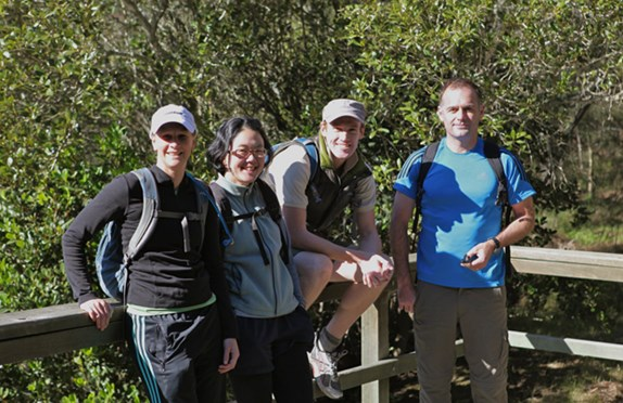 The AG Outdoor Oxfam Trailwalker team: (from left) Carolyn Barry, Siah Kim, Scott Browning, Mark Barlin.