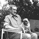 Patrick White with one of his many dogs. (Credit: AAP)