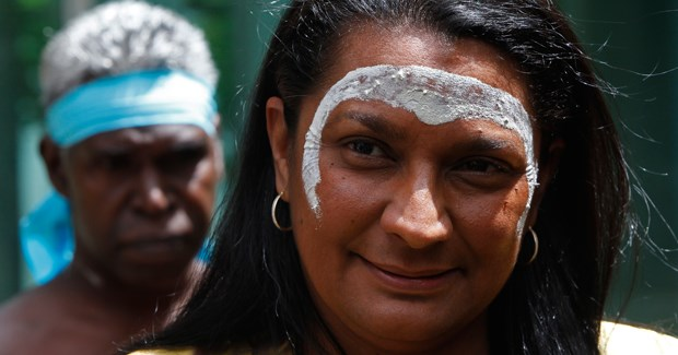 Nova Peris before her emotional first speech in Parliament. (Credit: AAP)