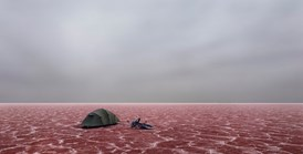 Lake Eyre as you've never seen it.  © Murray Fredericks 2006. Image courtesy of ARC 1 Gallery, Melbourne