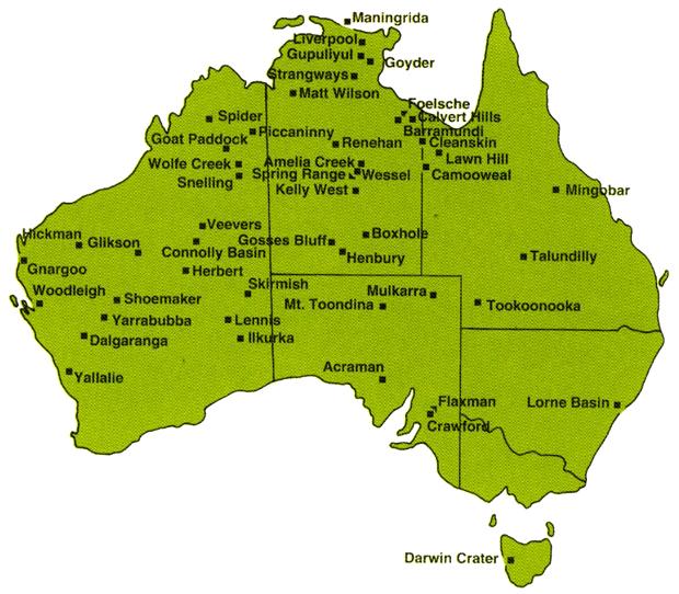 Australia craters