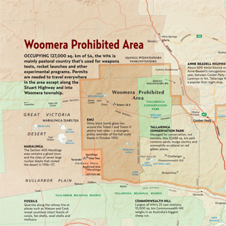 Woomera Prohibited Area Map
