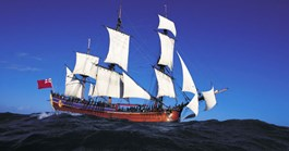 The Endeavour replica under full sail (Photo: Mike McCoy)