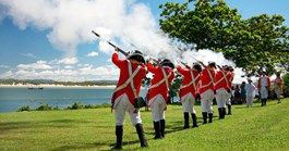 The re-enactment at Cooktown (Photo: Tess Buhmann)