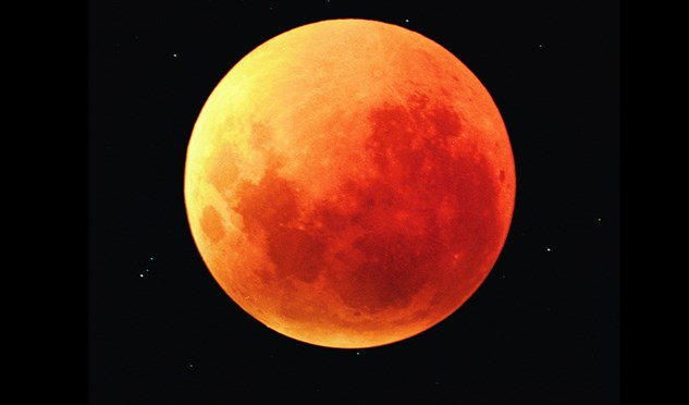 The lunar eclipse at twilight in Australia will likely turn the moon red.