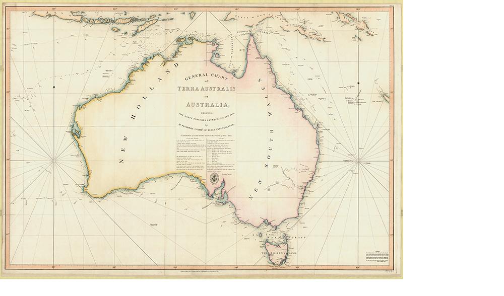 after flinders general chart was published new holland became britains australia image credit nla