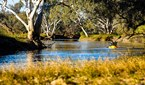 James McCormack sailing down Cooper Creek in Central Australia