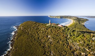 The historical Barrenjoey Lighthouse, Sydney's most northern point.