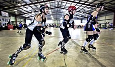 The popularity of roller derby skyrocketed since the first league was created here in 2007. (Credit: Dean Saffron)