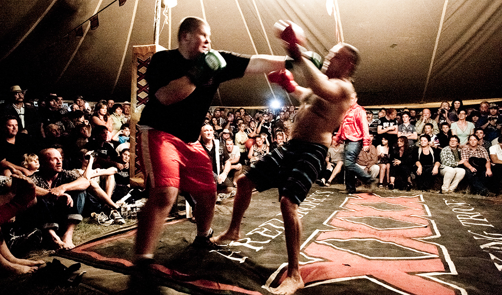Drew Jackson (left) is known as Tiny around the family pub in Nanango but when he steps into the boxing ring as a Brophy boxer heu0027s Tiny Tim. & Fred Brophyu0027s outback boxing tent - Australian Geographic