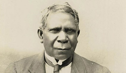 A picture of David Unaipon in his book, Legendary Tales of Australian Aborigines.