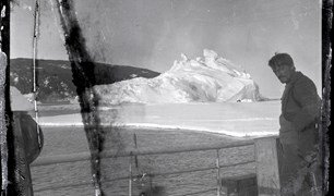 Ross Island, Antarctica. Alexander Stevens, chief scientist and geologist looks south.