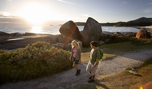 Lovely coastal views are offered at Wilsons Promontory