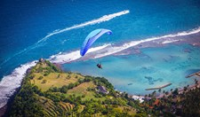 Bali lures pilots from around the world for it's wind conditions and it's spectacular scenery.