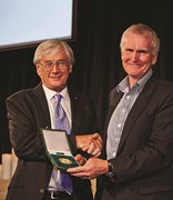 Dick Smith and Greg Mortimer at the 2014 AG Society Awards.