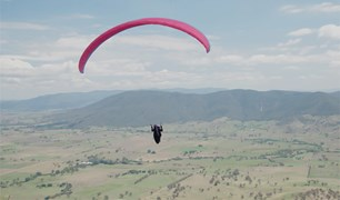 Paragliding over Victoria's alpine country