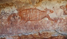 This rock art is found in the Balanggarra Indigenous Protected Area, in the northern Kimberley region of WA.