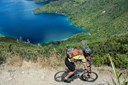 This exposed section of the Queen Charlotte Track makes for exciting riding and brilliant views.