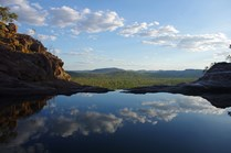 Gunlom plunge pool, located on Waterfall Creek in World Heritage-listed Kakadu National Park.