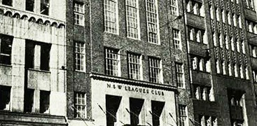 The NSW Leagues' Club building exterior in 1959.