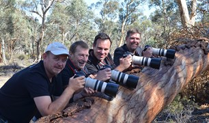 Robert McLean, John Lawson, Sean Van Alphen and Matthew Willett form the Numbat Task Force.