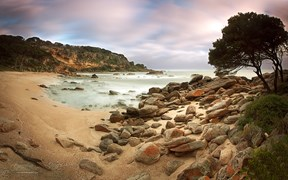 The Cape Naturaliste headland, overlooking Shelly Beach, Western Australia.