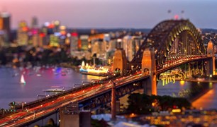 Tiny Sydney Timelapse tilt shift video