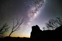 The Milky Way, as seen from a rocky outcrop in the Warrumbungles National Park, NSW