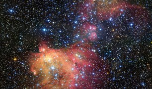 ESO Very Large Telescope LHA 120-N55 emission nebula glowing gas cloud