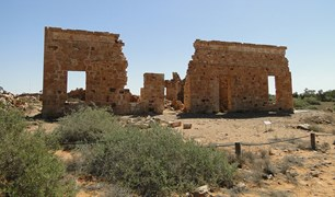 Ruins of the Exchange Hotel in Farina, South Australia.