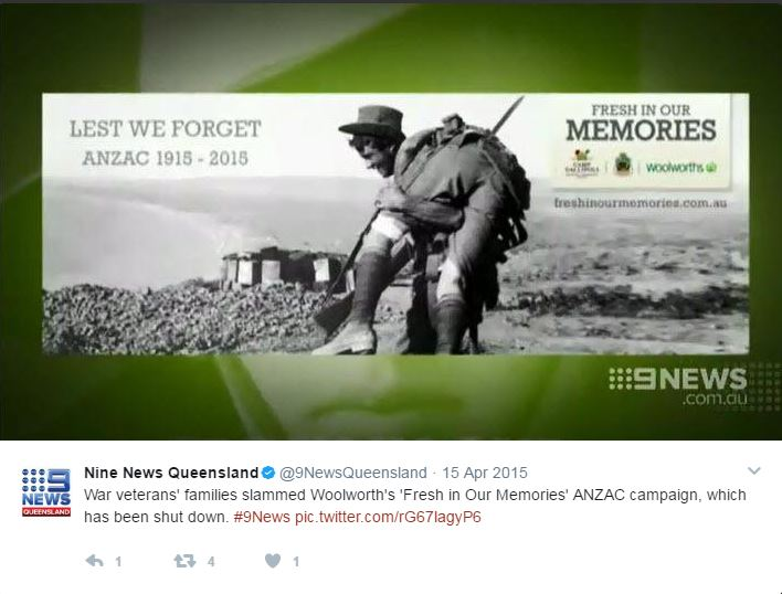 Anzac Day woolworths 2015