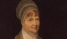 Elizabeth Fry reading the bible to convict women at Newgate