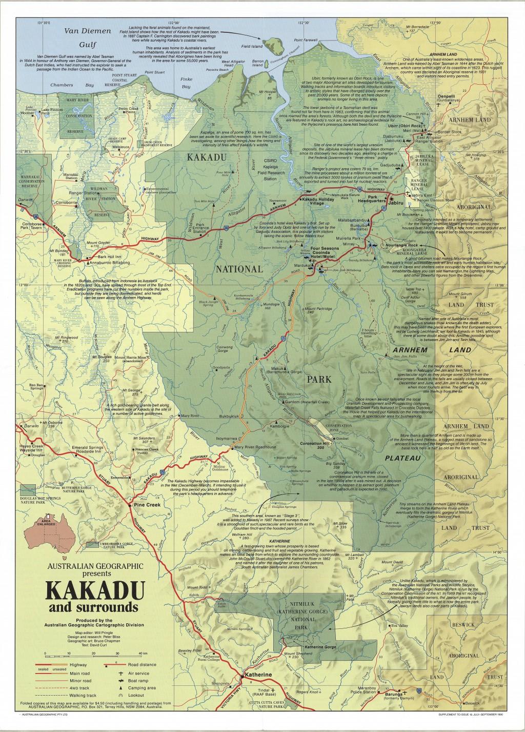 Kakadu national park map australian geographic gumiabroncs Image collections